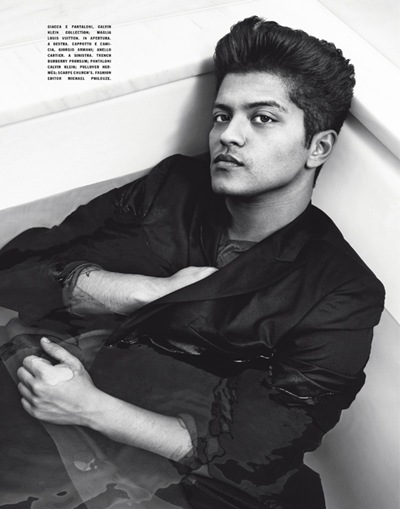 Bruno Mars by Kerry Hallihan for L'Uomo Vogue, July-August, 2011