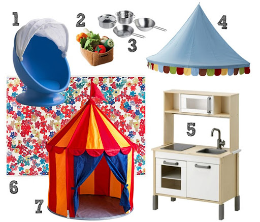 DUKTIG 4-piece cookware set u2013 $9.99 4. MYSIG bed canopy u2013 $14.99 5. DUKTIG mini kitchen u2013 $99 6. SOLRUN fabric u2013 $7.99/yd 7. CIRCUSTALT childrensu0027 tent u2013 ...  sc 1 st  will work for decor & will work for decor: ikea style