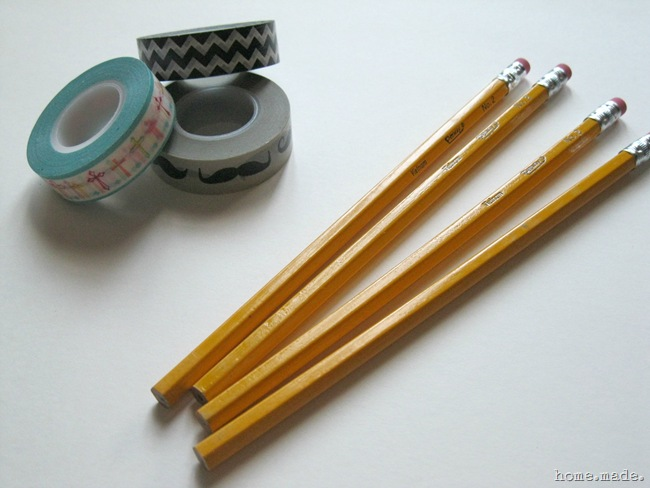 home.made. Washi Tape Pencils