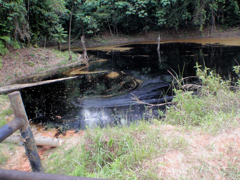 A recent spill in a lake in Oil Block 1-AB from August 27 2010