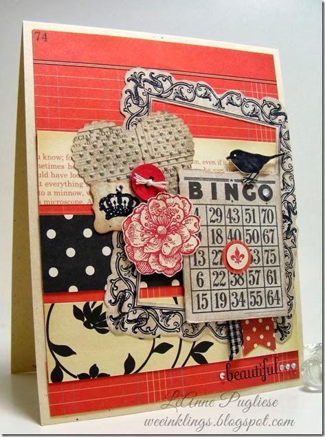 LeAnne Pugliese WeeInklings Vintage Bingo Stampin Up