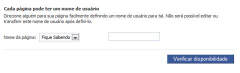 Personalizar URL de página do Facebook