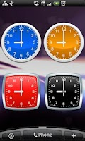 Screenshot of Analog clocks widget – simple