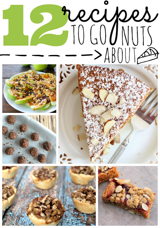12 Recipes to Go Nuts About at GingerSnapCrafts.com #recipes #nuts