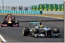 Hamilton davanti a Vettel nel gran premio d'Ungheria 2013
