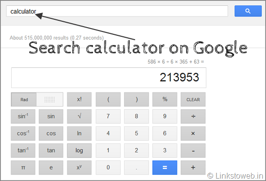 calculator-google