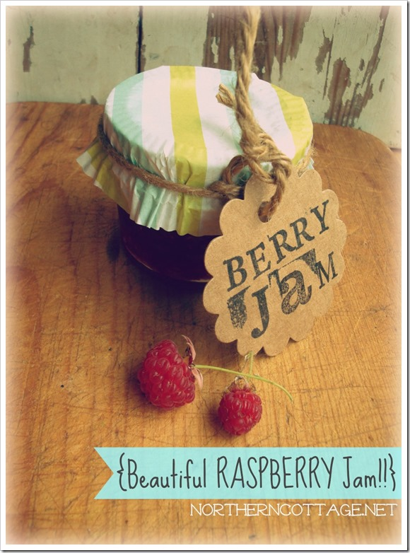 {Northern Cottage} beautiful Raspberry Jam!!