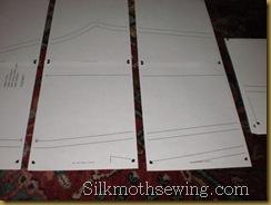 Jeans Pattern Print Assembly