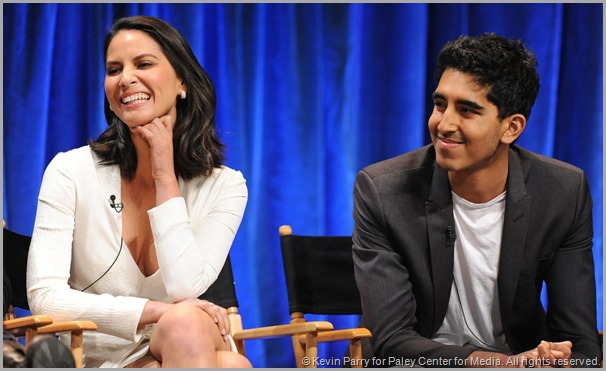 Olivia Munn (L) and Dev Patel from the NEWSROOM panel at the PALEYFEST on March 3, 2013. CLICK to visit the official site for this panel at Paleycenter.org.