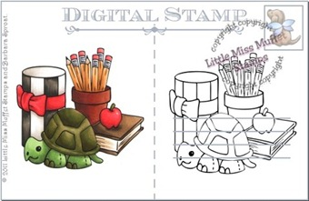 school-turtle-postcard