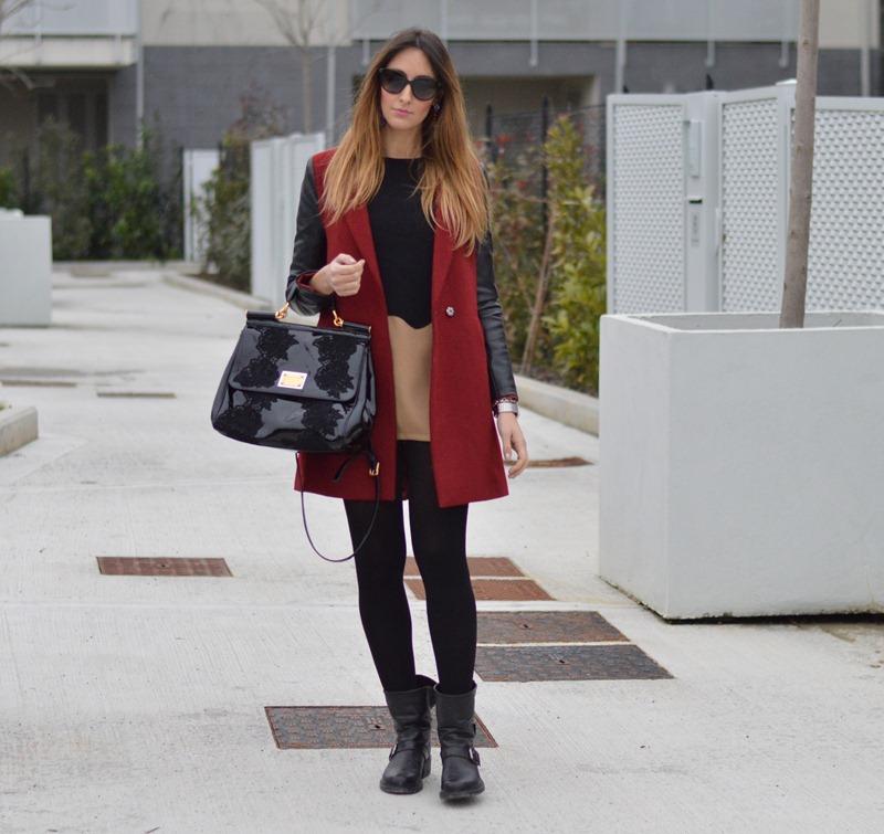 Sheinside, Sheinside coat, red coat, cappotto rosso, come abbinare un cappotto rosso, dress, come abbinare un vestito corto, strategia, strategia boots, strategia shoes, scarpe strategia, miss sicily, miss sicily bag, dolce & gabbana bag, dolce & gabbana miss sicily bag, H&M jewels, H&M earrings, H&M accessoires, Calzedonia, fashion blogger, italian fashion blogger, fashion blogger firenze, fashion blogger italiane