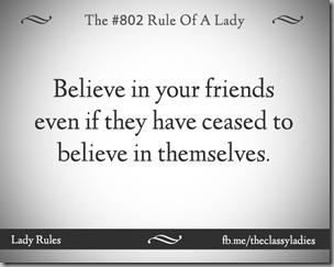 believe in your friends