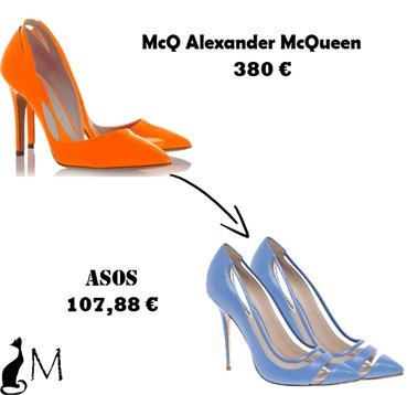 clon salones McQ Alexander McQueen Asos Primavera verano 2013 SS 2013