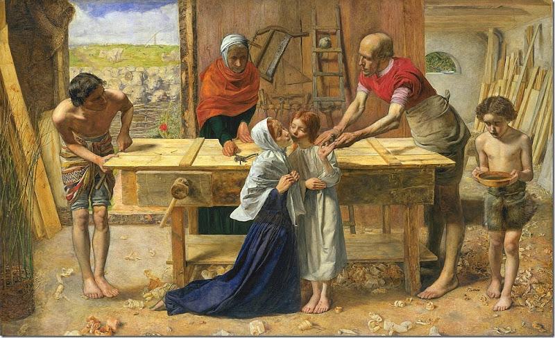 millais - chrystus w domu swoich rodziców 1849-1850