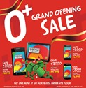 O  Grand Opening Sale