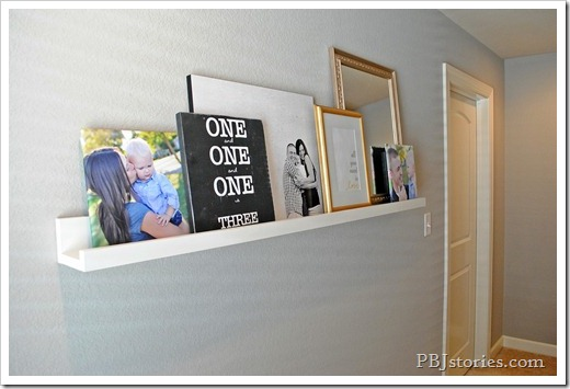 DIY Picture Shelf Display