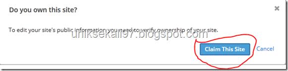 cara verifikasi blogspot ke alexa