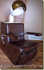vintage dryer chair
