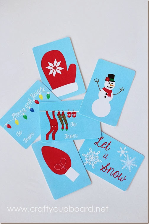 Mittens Gift Tag Printables by The Crafty Cupboard