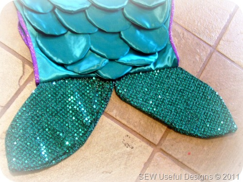 Mermaid costume tail close up pic