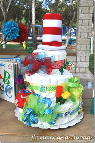 diaper cake tutorial finished front