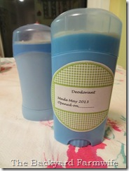 Homemade Deodorant - The Backyard Farmwife
