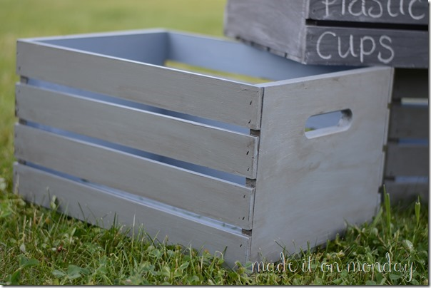 Painted Storage Crates @ Made it on Monday