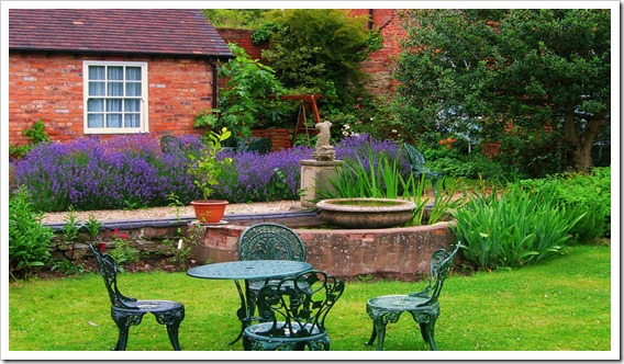 The Garden at Dinham Hall_  Ludlow_ Shropshire_O