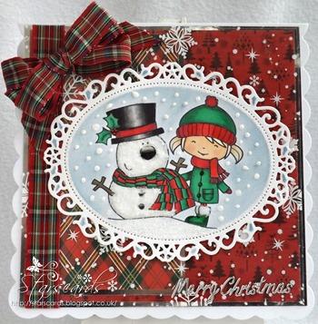 rosie and snowman crop