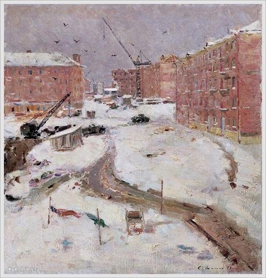 Шишко Сергей Федорович (Россия, 1911-1997)  «Новые дома»