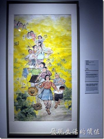 上海-中華藝術宮。這真的是一幅經典畫作,記得以前曾經在那本教科書上看過,描繪的是共產黨的女社員。