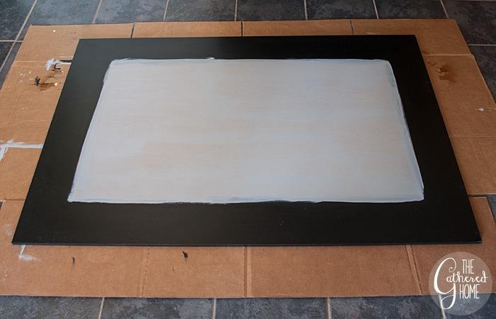 painted mdf black edges primed middle