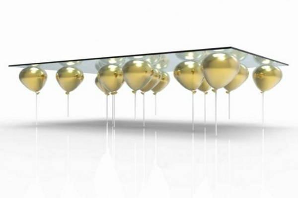 Mesa-de-Centro-Vidro-Bexigas-Balões-Dourados-Visão-Lateral