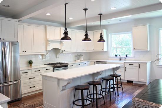 white kitchen long island