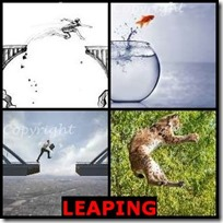 LEAPING- 4 Pics 1 Word Answers 3 Letters