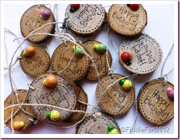 Wooden Gift Tags made with real branches