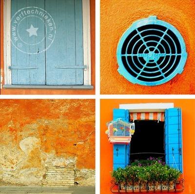 verftechnieken-oranje-blauw-muren