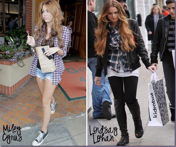 Camisa-Xadrez-Miley-Cyrus-Lindsay-Lohan