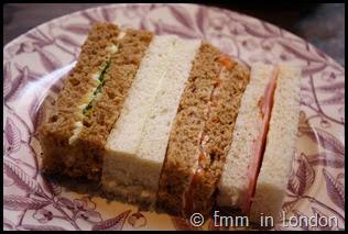 Classic sandwiches Pantry 108 Marylebone Hotel