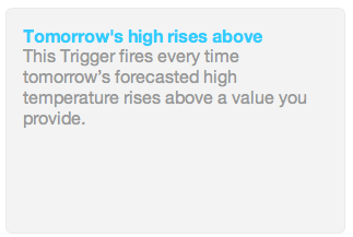 Weather Trigger