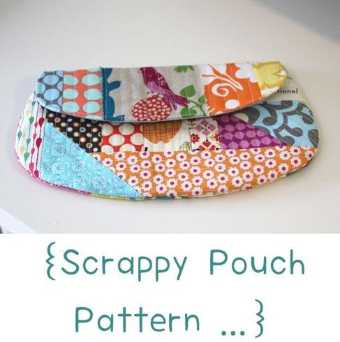 Flutter Kat Scrappy Pouch