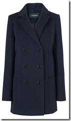jaeger double breasted peacoat