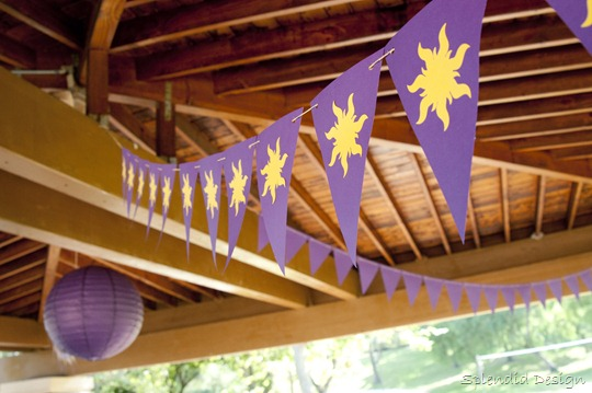 Tangled sun banner