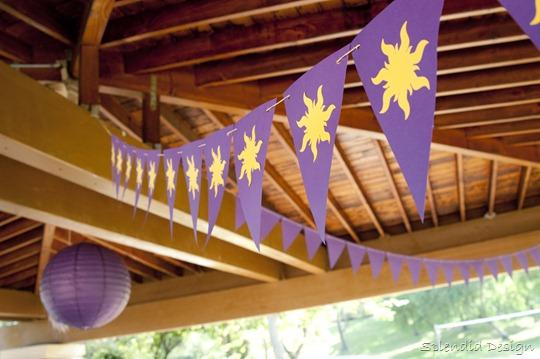 Tangled sun banner