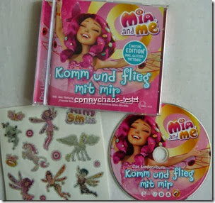 Mia and Me Liederalbum mit Glitzertattoos