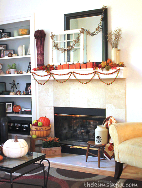 Autumn harvest mantel
