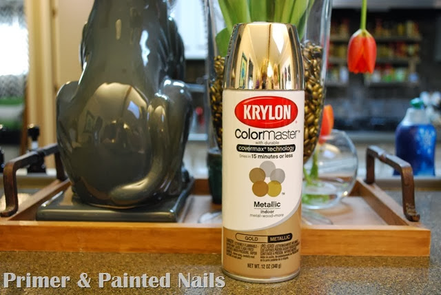 Gold Spray Paint - Primer & Painted Nails