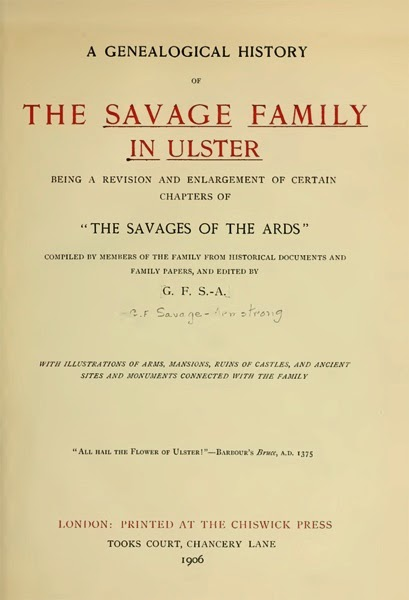Savage Family in Ulster 1
