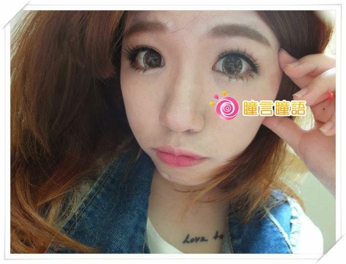 日本ROYAL VISION隱形眼鏡-混血四色灰SAM_1398