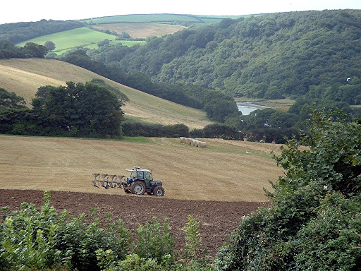 Autumn Ploughing, Lostwithiel Valley